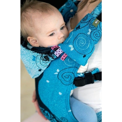 Lenny Lamb - Suck Pads and Reach Strap Set - Blue Princessa, , Carrier Accessories, Lenny Lamb, Carry Them Close  - 3