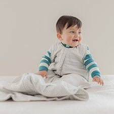 Woolbabe - Merino Wool Sleeping bag (Winter Weight) - Moondust - Baby Sleeping Bags - Woolbabe - Carry Them Close