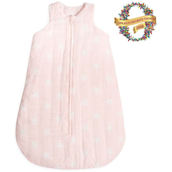 Aden and Anais - Cozy Flannel Muslin Sleeping Bag 3.5 TOG - Grace - Baby Sleeping Bags - Aden and Anais - Carry Them Close