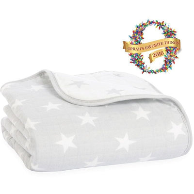 Aden and Anais - Dream Blanket Flannel Muslin - Fate - Baby Blankets - Aden and Anais - Afterpay - Zippay Carry Them Close