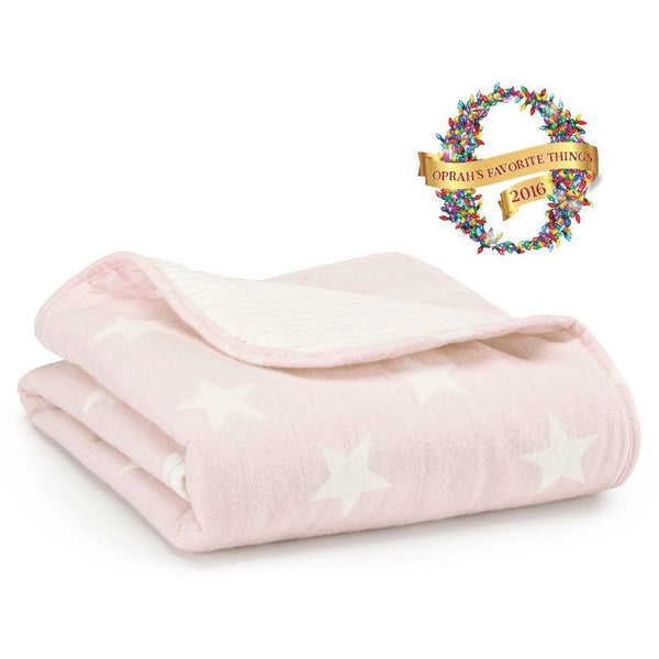 Aden and Anais - Flannel Muslin Stroller Blanket - Grace