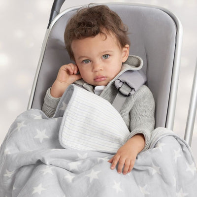 Aden and Anais - Flannel Muslin Stroller Blanket - Fate - swaddle - Aden and Anais - Afterpay - Zippay Carry Them Close