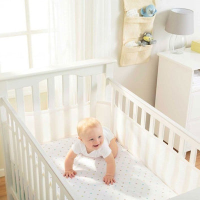 Breathable Baby - White Breathable Mesh Cot Liner (4 sides) - Cot Liner - Breathable Baby - Afterpay - Zippay Carry Them Close