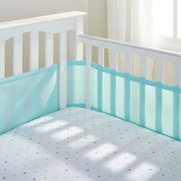 Breathable Baby - Breathable Mesh Cot Liner - Aqua Mist (4 sided) - Cot Liner - Breathable Baby - Carry Them Close