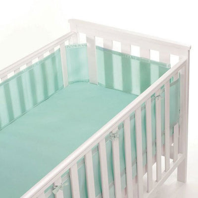 Breathable Baby - Breathable Mesh Cot Liner - Aqua Mist (4 sided) - Cot Liner - Breathable Baby - Afterpay - Zippay Carry Them Close