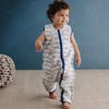 Woolbabe - Wool Winter Sleep Suit - Midnight Waves