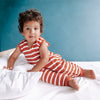 Woolbabe - Wool Winter Sleep Suit - Lava Stripe