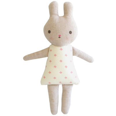 Alimrose - Bonnie Bunny Rattle Linen Pink - Toys - Alimrose - Afterpay - Zippay Carry Them Close