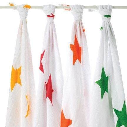 Aden and Anais - Classic Swaddles - Super Star (4 Pack), , swaddle, Aden and Anais, Carry Them Close  - 1