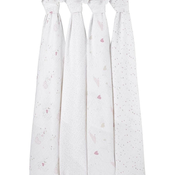 Aden and Anais - Classic Swaddles - Lovely (4 Pack), , swaddle, Aden and Anais, Carry Them Close  - 1