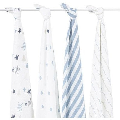 Aden and Anais - Classic Swaddles - Rock Star (4 Pack) - swaddle - Aden and Anais - Afterpay - Zippay Carry Them Close