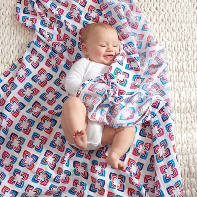 Aden and Anais - Classic Swaddles - Flip Side (4 Pack) - swaddle - Aden and Anais - Carry Them Close