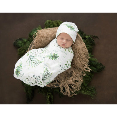 Snuggle Hunny Kids - Jersey Baby Wrap Swaddle & Beanie (Set) - Enchanted