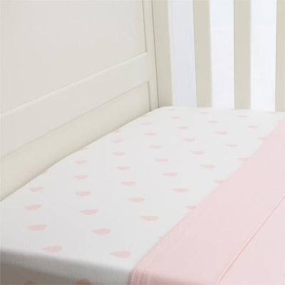 Lil Fraser - Cot Sheet 2 Piece Set (Pink Raindrop Fitted with Pink Flat) - Bedding - L'il Fraser - Afterpay - Zippay Carry Them Close