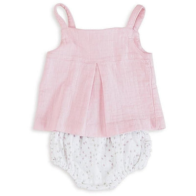 Ruffle Bloomer - Lovely Mini Hearts, , Clothing, Aden and Anais, Carry Them Close  - 4
