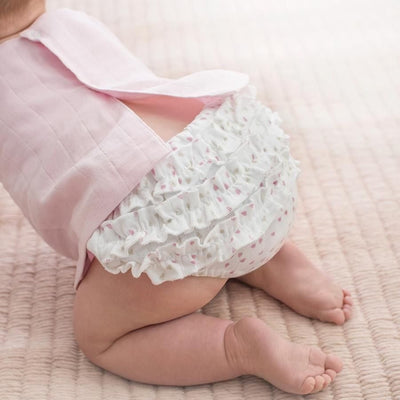 Ruffle Bloomer - Lovely Mini Hearts, , Clothing, Aden and Anais, Carry Them Close  - 1