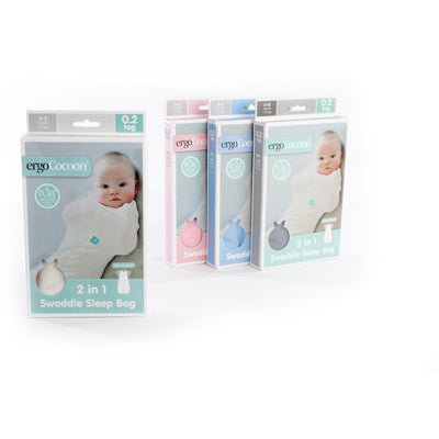 ErgoPouch - ErgoCocoon Autumn / Spring Swaddle & Sleeping Bag (1TOG) - Mint Star, , Swaddle, ErgoCocoon, Carry Them Close  - 2
