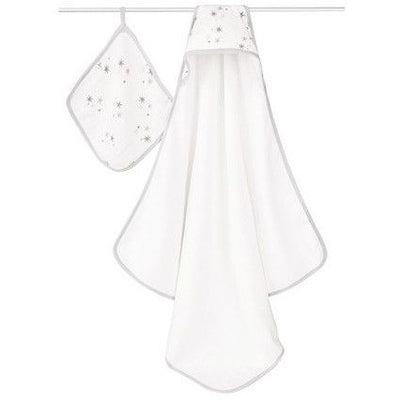 Aden and Anais - Towel and Wash Cloth Set - Twinkle - Bath - Aden and Anais - Afterpay - Zippay Carry Them Close