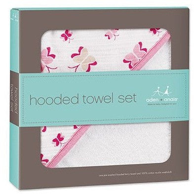 Aden and Anais - Towel and Wash Cloth Set - Princess Posie - Bath - Aden and Anais - Afterpay - Zippay Carry Them Close