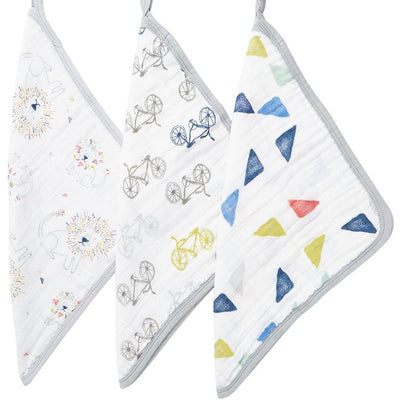 Aden and Anais - Wash Cloth Set - Leader of The Pack - Bath - Aden and Anais - Afterpay - Zippay Carry Them Close