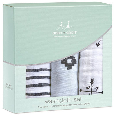 Aden and Anais - Wash Cloth Set - Lovestruck - Bath - Aden and Anais - Afterpay - Zippay Carry Them Close