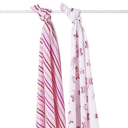 Aden and Anais - Swaddle - Princess Posie (2 set), , swaddle, Aden and Anais, Carry Them Close  - 1