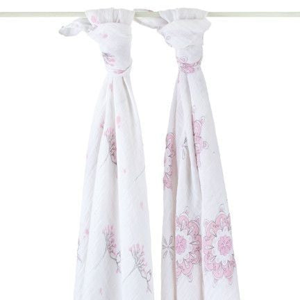 Aden and Anais - Swaddle - For the Birds (2 set), , swaddle, Aden and Anais, Carry Them Close  - 1