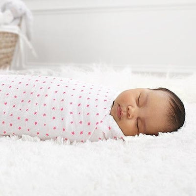Aden and Anais - Swaddle - Fluro Pink (2 set) - swaddle - Aden and Anais - Afterpay - Zippay Carry Them Close