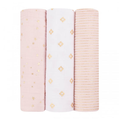 Aden and Anais - Classic Swaddles Metallic Primrose (3 Pack)
