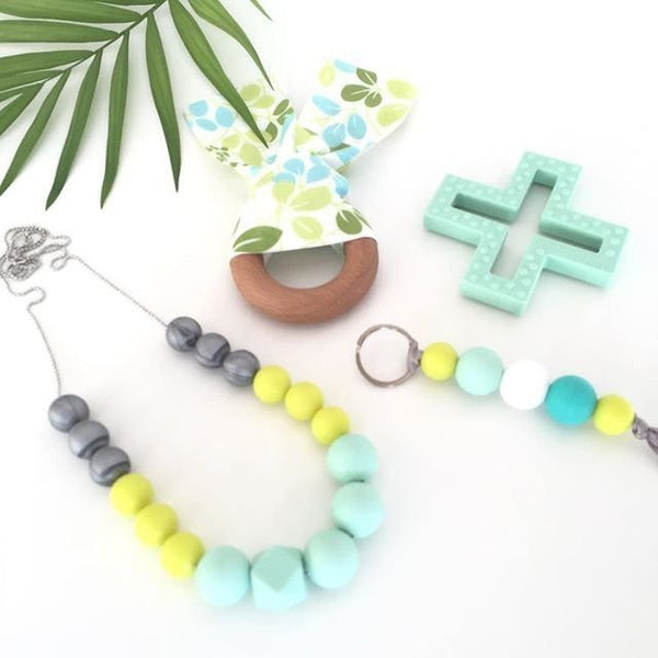 Summer Silicone Necklace - Teething Necklace - Nature Bubz - Carry Them Close