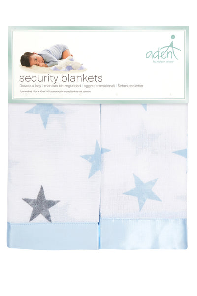Aden by Aden and Anais - Security Blankets Comforter - Dapper (set of 2)