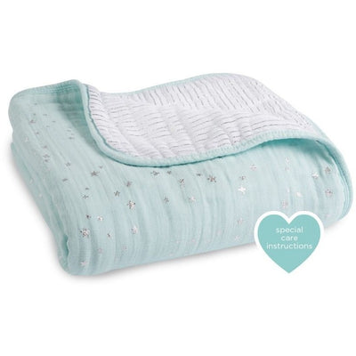 Aden and Anais - Dream Blanket - Metallic Skylight - Baby Blankets - Aden and Anais - Afterpay - Zippay Carry Them Close