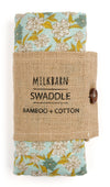 Milkbarn - Bamboo Baby Swaddle - Blue Floral