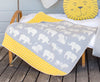 Emotion & Kids - Bassinet Blanket - GREY ZOO JUWEL HOODED BLANKET