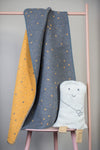 Emotion & Kids - Bassinet Blanket & Case - GREY STAR