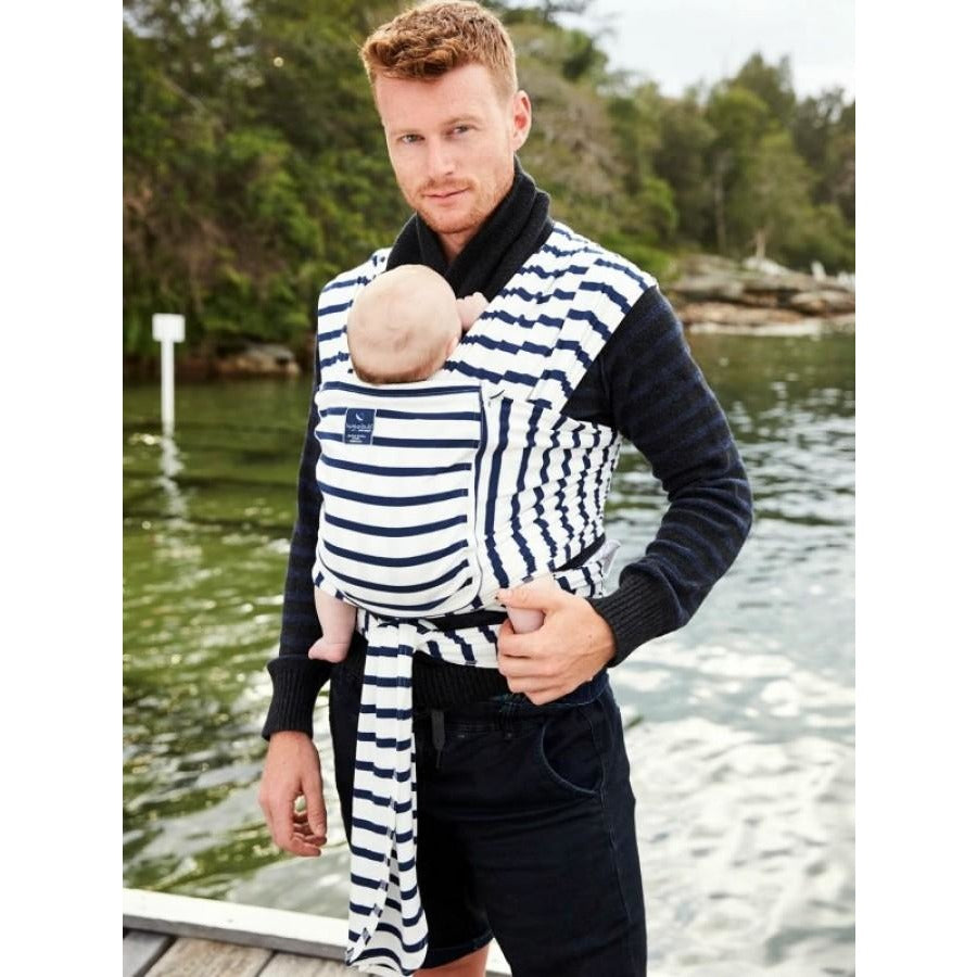 Hug A Bub Organic Pocket Stretchy Wrap Carrier French Sailor