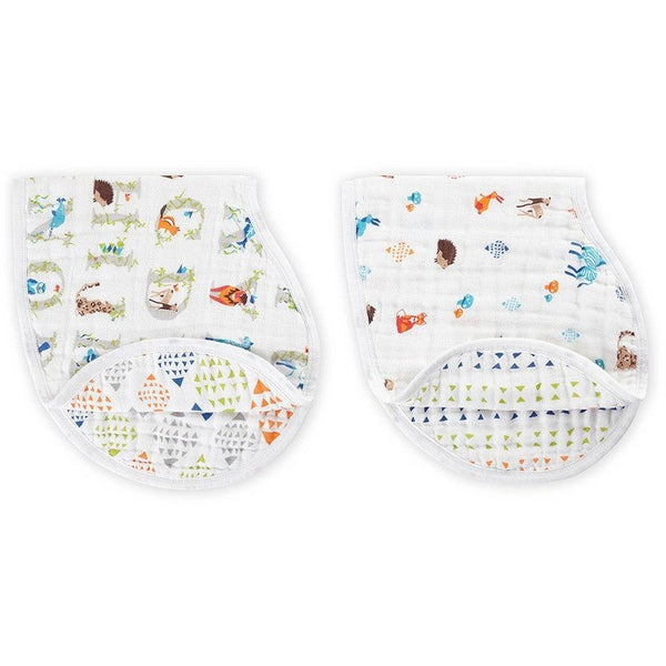 Aden and Anais - Burpy Bib (2 Set) - Paper Tales, , Clothing, Aden and Anais, Carry Them Close  - 1
