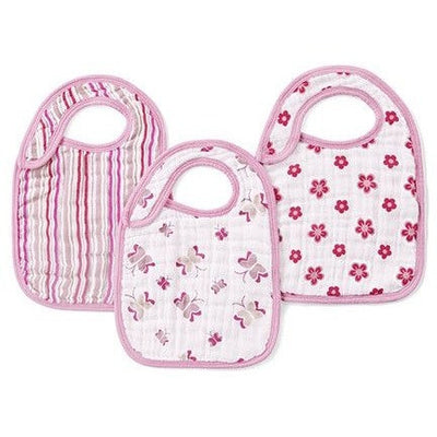 Aden and Anais - Snap Bib 3 Set - Princess Posie - Clothing - Aden and Anais - Afterpay - Zippay Carry Them Close
