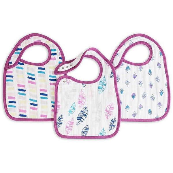 Aden and Anais - Snap Bib 3 Set - Wink, , Clothing, Aden and Anais, Carry Them Close  - 1