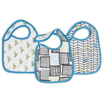 Aden and Anais - Snap Bib 3 Set - Whiz Kids - Clothing - Aden and Anais - Afterpay - Zippay Carry Them Close