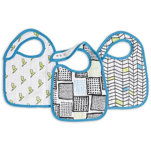 Aden and Anais - Snap Bib 3 Set - Whiz Kids, , Clothing, Aden and Anais, Carry Them Close  - 1