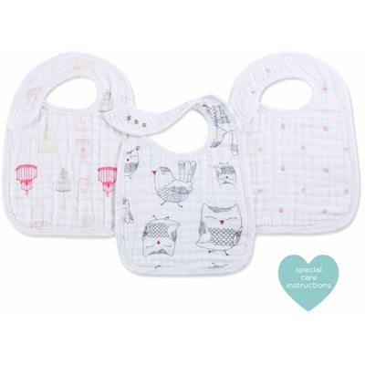 Aden and Anais - Snap Bib 3 Set - Lovebird - Clothing - Aden and Anais - Afterpay - Zippay Carry Them Close