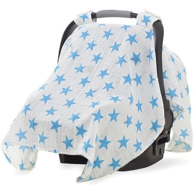 Aden and Anais - Car Seat Canopy - Fluro Blue, , Car Accessories, Aden and Anais, Carry Them Close  - 2