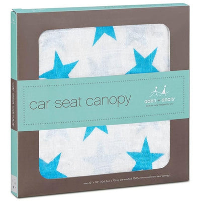 Aden and Anais - Car Seat Canopy - Fluro Blue, , Car Accessories, Aden and Anais, Carry Them Close  - 3