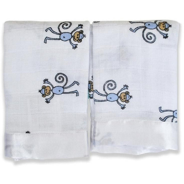 Aden and Anais - Security Blankets Comforter - Issie Jungle Jam Monkey (set of 2), , Security Blanket, Aden and Anais, Carry Them Close  - 1