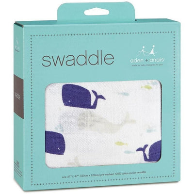 Aden and Anais - Classic Muslin Swaddle - High Seas - swaddle - Aden and Anais - Afterpay - Zippay Carry Them Close
