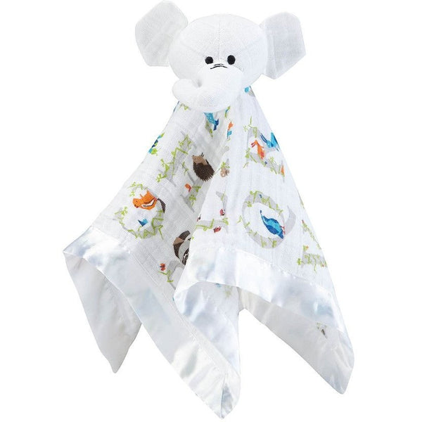 Aden and Anais - Musy Mate Lovely Comforter - Paper Tales (Elephant)