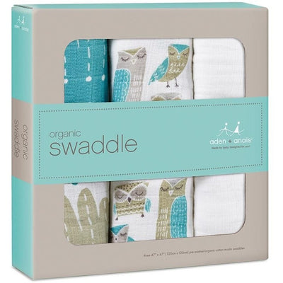 Aden and Anais - Organic swaddles Wise Guys (3 Pack), , swaddle, Aden and Anais, Carry Them Close  - 2