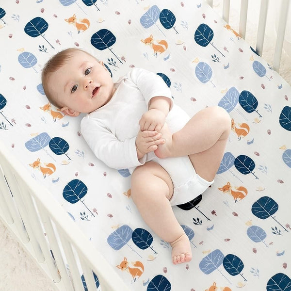 Aden and Anais - Organic Cot Sheet - In to the Woods - nursery - Aden and Anais - Carry Them Close