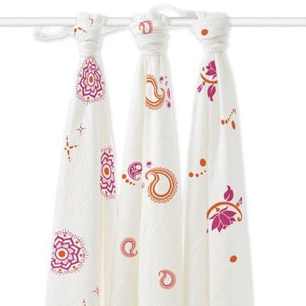 Aden and Anais - Bamboo swaddles (Pyara 3 Pack), , swaddle, Aden and Anais, Carry Them Close  - 1